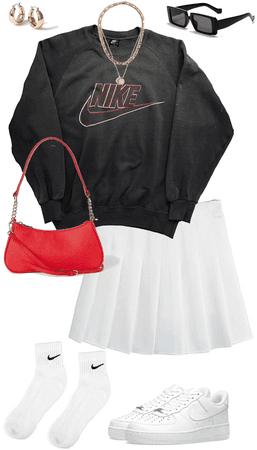 tennis skirt look
