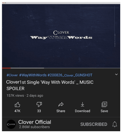 "Clover ""Way With Words"" music spoiler"