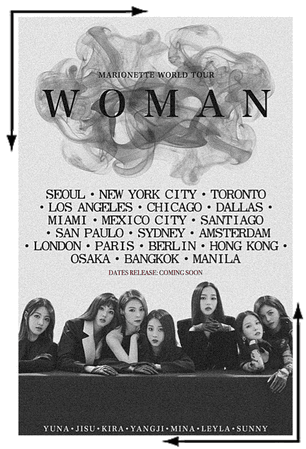 MARIONETTE (마리오네트) Woman World Tour Poster