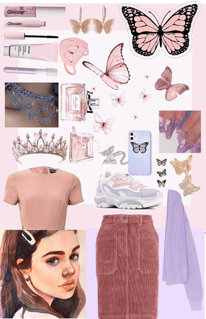 the butterfly girl 💖 🤍 💜