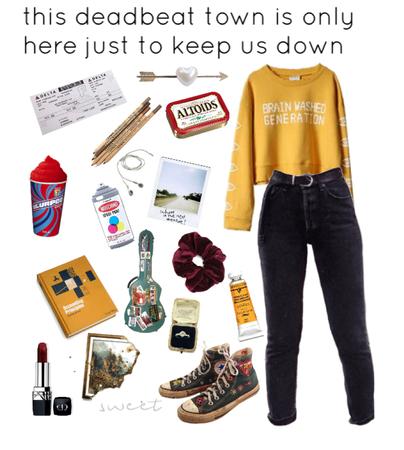 yellow grunge / teen