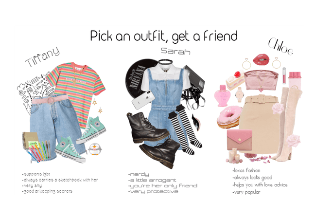 Pick an outfit, get a friend