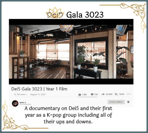 Dei5 Gala 3023 | Year 1 Film