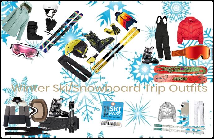 Winter Ski/Snowboarding Trip Outfits