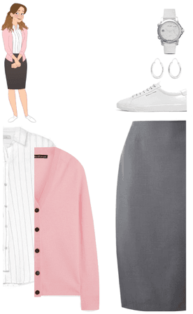 Pam Beesly, Fall Office outfit