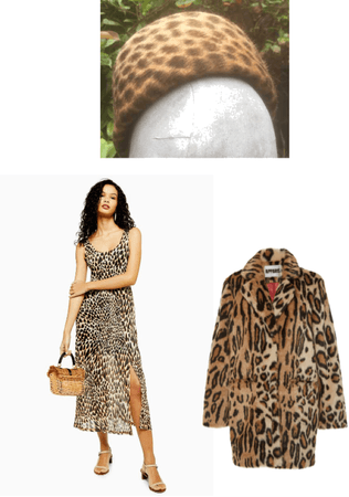 Animal Leopard Print Pillbox Hat