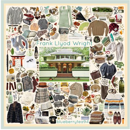 Frank Lloyd Wright moodboard