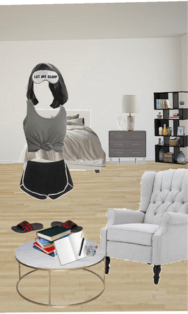 lady in bedroom