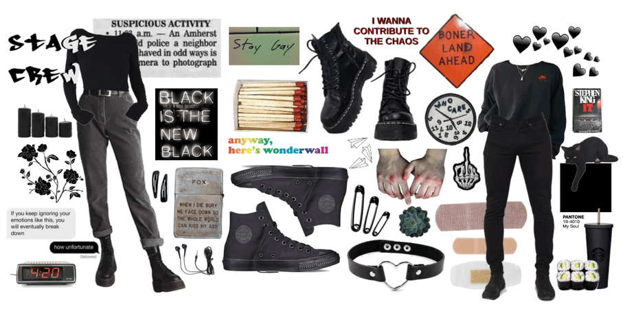 stage crew moodboard/vibes