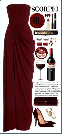 Scorpio mood (Monochromatic red wine)