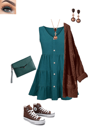 Chocolate and Teal