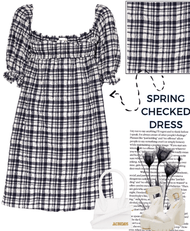 SPRING CHECKED DRESS- SOLID & STRIPED