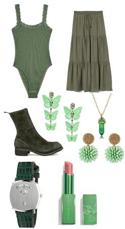Earthy Green Forestcore