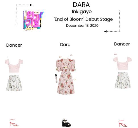 {3D} Dara - 'End of Bloom' Inkigayo Debut Stage