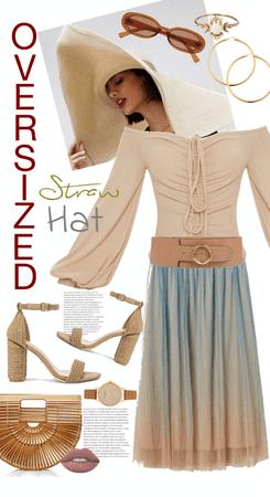 Dare you wear an OVERSIZED Straw Hat