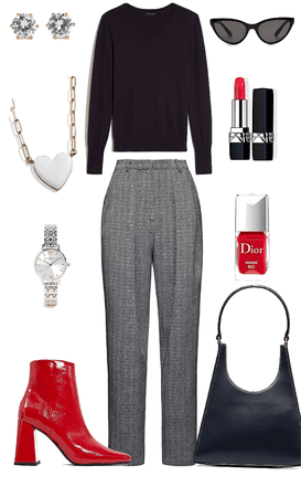 Traditional with Pops of Red