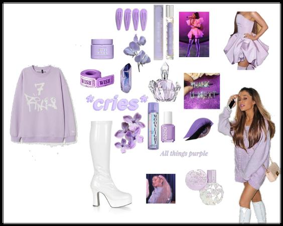 purple Ariana Grande