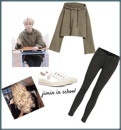 Jimin school outfit