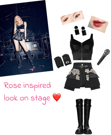 Rose inspired look on stage