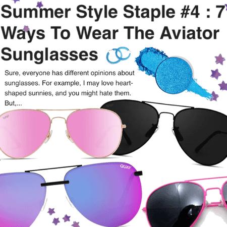 summer style staple: aviators