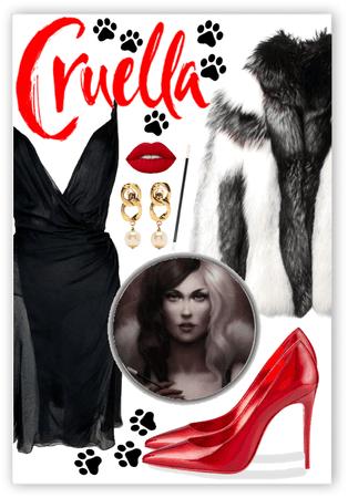 Cruella De Vil ❤️🤍🖤