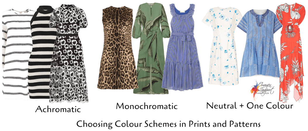 Choosing colour schemes in prints and patterns