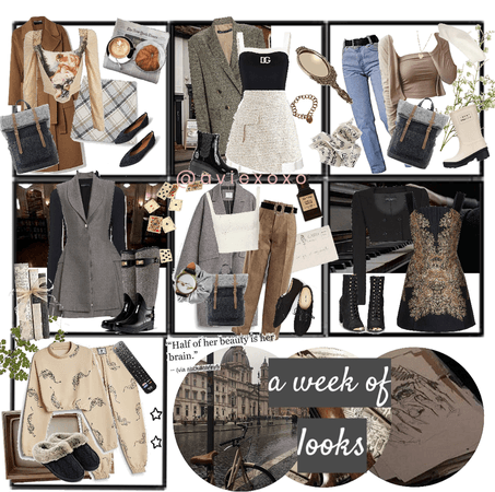 cinnamon girl: 7 days of outfits