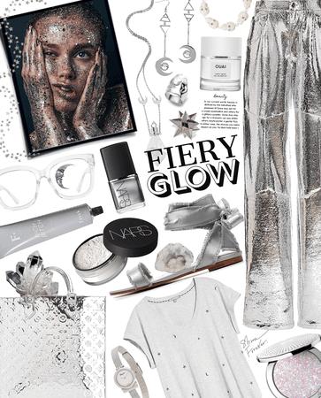 fiery silver glow
