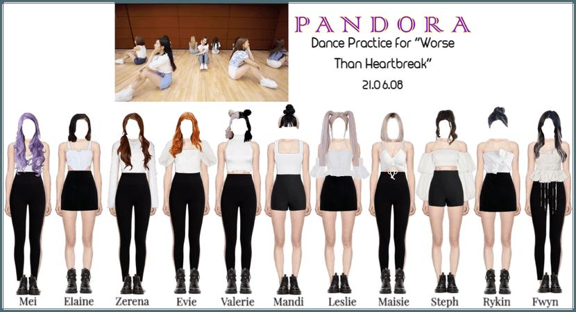 "PANDORA ""Worse Than Heartbreak"" Dance Practice"