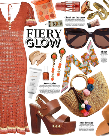 fiery glow | simple summer dress