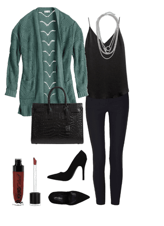 Blk and Green Chic
