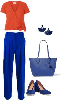 Outfit pantalón azul