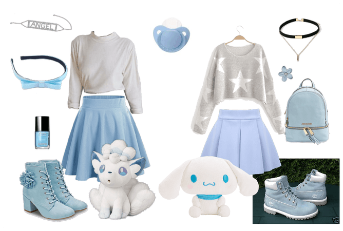 Ddlg blue outfits