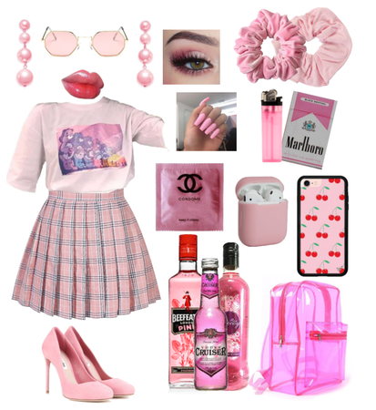 Pink but bad-girl at the same time!!