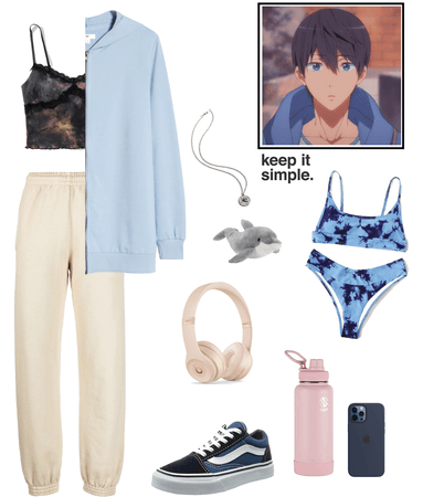 Haruka Nanase inspired Outfit