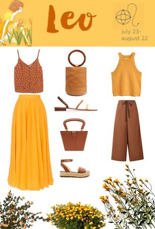 Leo Style: Saffron & Brown