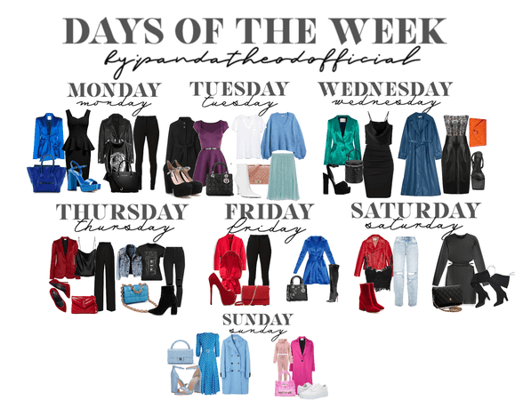 causal, work and night out outfits for days of the week