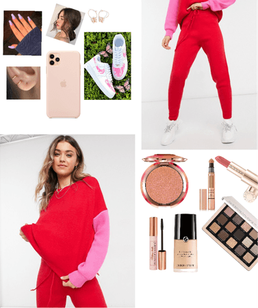 pink/ red loungewear
