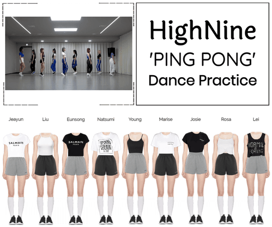 "HighNine (하이 나인) ""PING PONG"" Dance Practice"