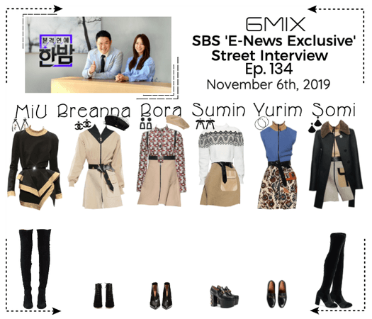 《6mix》SBS 'E-News Exclusive' Street Interview