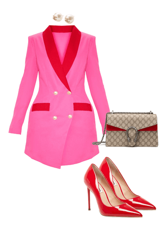 Pink and Red . Blazer Trend