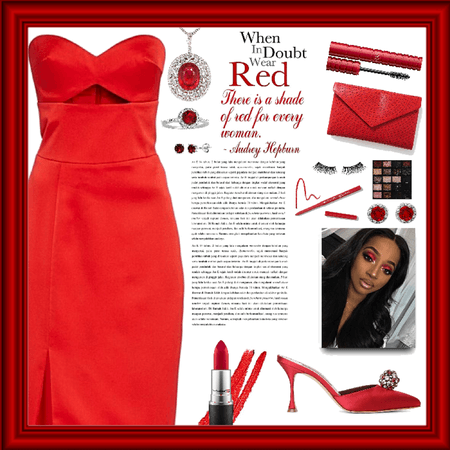 Style a red necklace