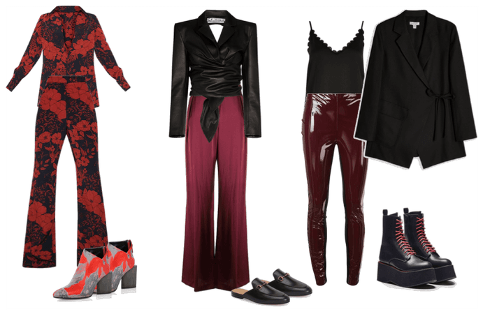 chic unexpected reds