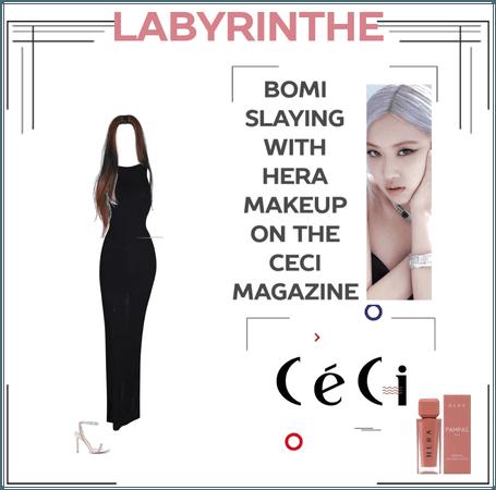 LABYRINTHE Bomi with HERA on the CECI magazine