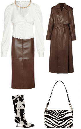 brown, leather, zebra.
