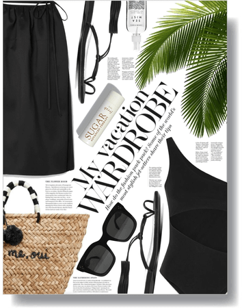 being chic at the beach 🖤
