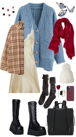 slip + boots + heart lollies