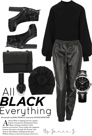 monochrome: all black everything