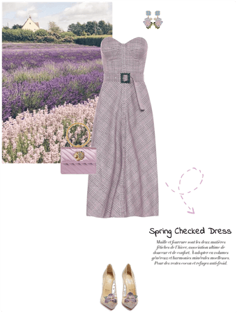 spring checked dress
