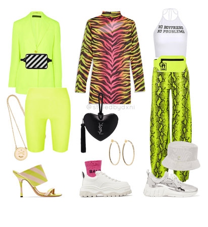 021 - Coachella Neon Look